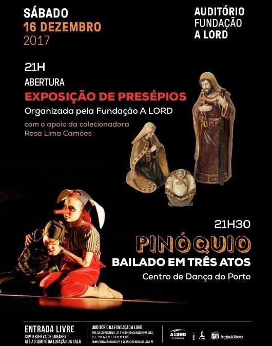 ABERTURA DE EXPOSIÇÃO DE PRESÉPIOS E ESPETÁCULO PINÓQUIO – BAILADO EM TRÊS ATOS | 16 dezembro
