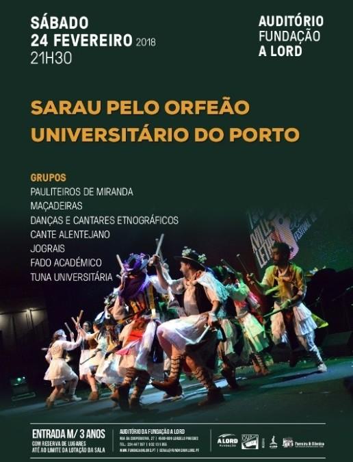 Espetáculo | SARAU PELO ORFEÃO UNIVERSITÁRIO DO PORTO | 24 fevereiro