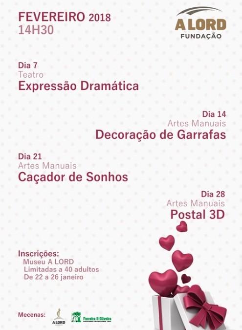 Ateliês | EXPRESSÃO DRAMÁTICA E ARTES MANUAIS | Fevereiro 2018