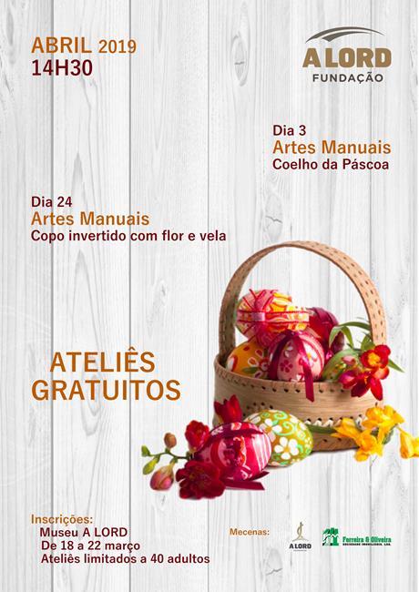 Inscrições | ATELIÊS GRATUITOS | Abril