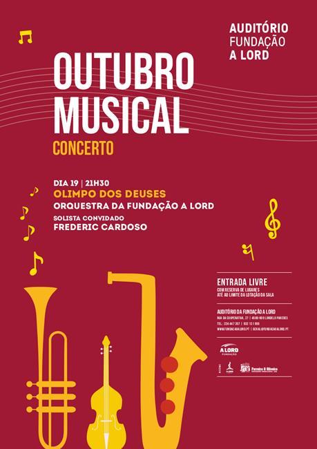 Outubro Musical | OLIMPO DOS DEUSES | Orquestra da Fundação A LORD | 19 outubro 2019