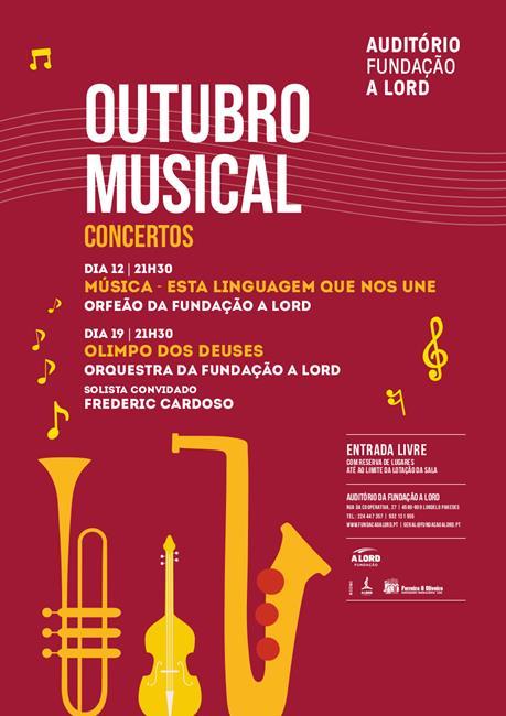 Outubro Musical | MÚSICA – ESTA LINGUAGEM QUE NOS UNE | Orfeão da Fundação A LORD | 12 outubro 2019