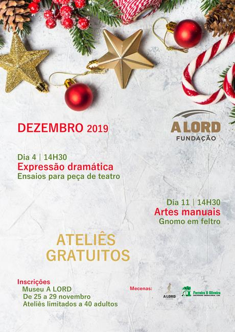 Inscrições | ATELIÊS GRATUITOS PARA ADULTOS | 25 a 29 novembro 2019