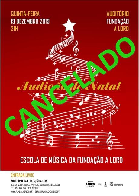 Escola de Música | AUDIÇÃO DE NATAL | 19 dezembro 2019