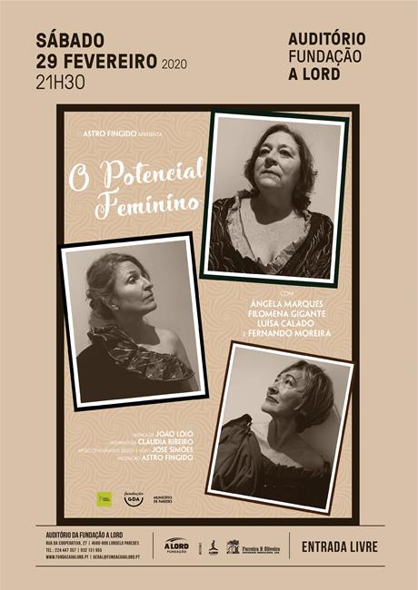 Teatro | O POTENCIAL FEMININO | 29 fevereiro 2020