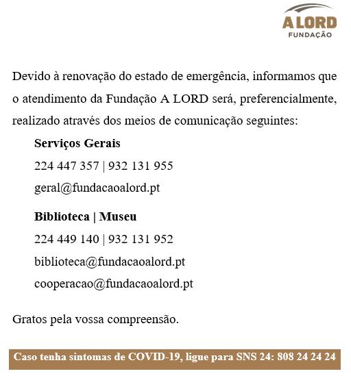 Aviso | ATENDIMENTO DA FUNDAÇÃO A LORD