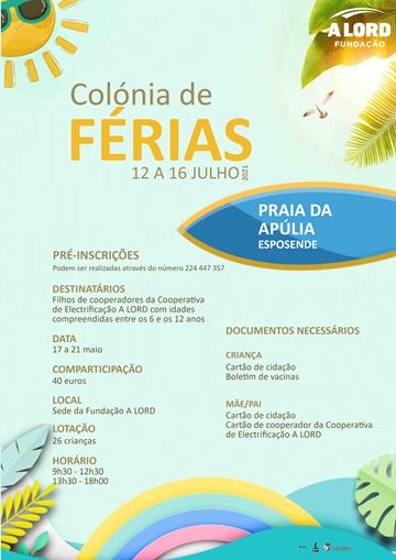 Pré-inscrições | COLONIA DE FÉRIAS | 17 a 21 maio